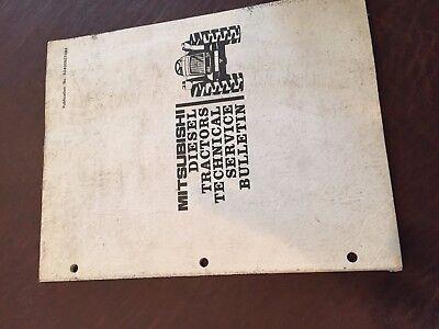 Satoh  Tractor Service Bulletin Book Mitsubishi Beaver 1985