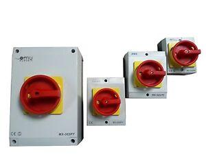Hauptschalter-20-25-32-63A-Reparaturschalter-Gehause-Lasttrennschalter-Not-Aus