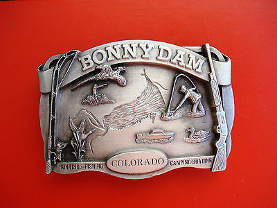 1984 Siskiyou Bonny Dam Colorado Hunting,Fishing,Camping,Boating Belt Buckle