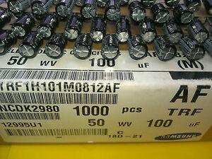 [50 pcs]...Samsung 100uF 50V Electrolytic Capacitor Series TRF Low Imp. 105℃ - <span itemprop=availableAtOrFrom>Warszawa, mazowieckie, Polska</span> - Zwroty są przyjmowane - Warszawa, mazowieckie, Polska