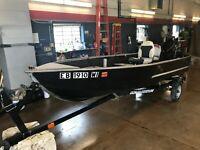 12' Sears Aluminum Fishing 9.8HP Mercury w/ Karavan Trailer   T1302164