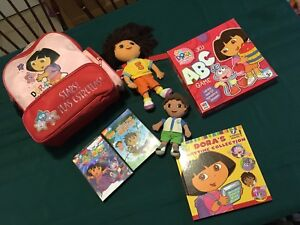Dora lot- Dora and Diego lot fits in a back pack