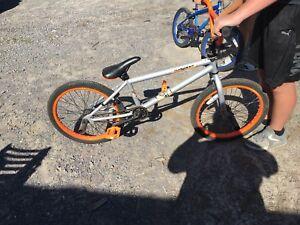 Orange/grey bike