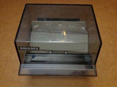 Vintage Rolodex S-300c Business Card File Box