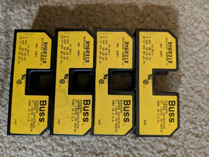 Bussman BM6031B Fuse Holder 1Pole 30A 600V (Pack Of 4) USA MADE! FREE SHIPPING