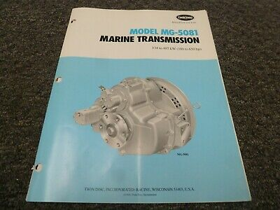 Twin Disc Mg-5081 Marine Transmission Assembly Dimensional Specifications Manual