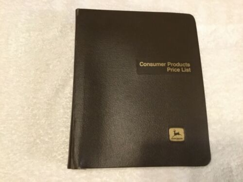 John Deere 1986 Consumer Products Price List Dealer Binder