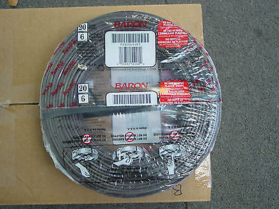Thermostat Cable 20 Gauge 6 Wire 250 Feet Roll Low Voltage Network Tstat