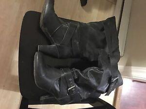 Black High Heel Boots Size 9.5