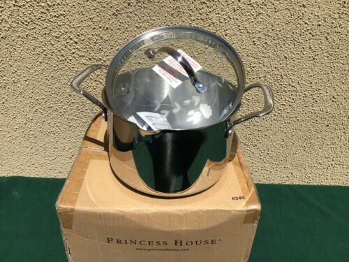 NEW Princess House Stainless Steel Classic 4-Qt. Straining Casserole 6349