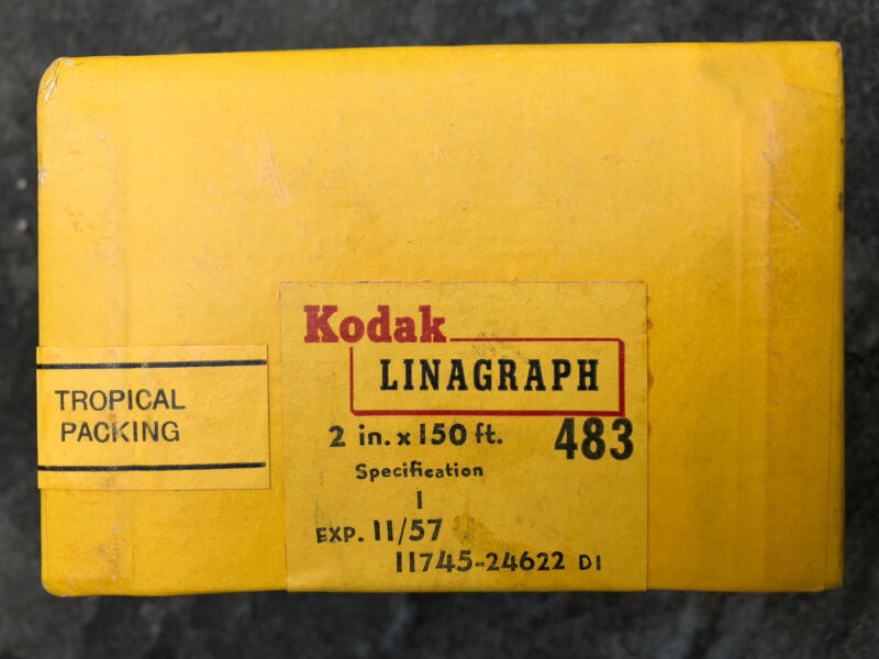 Kodak Linagraph 2 in x 150 ft, UNOPENED, expired 1957