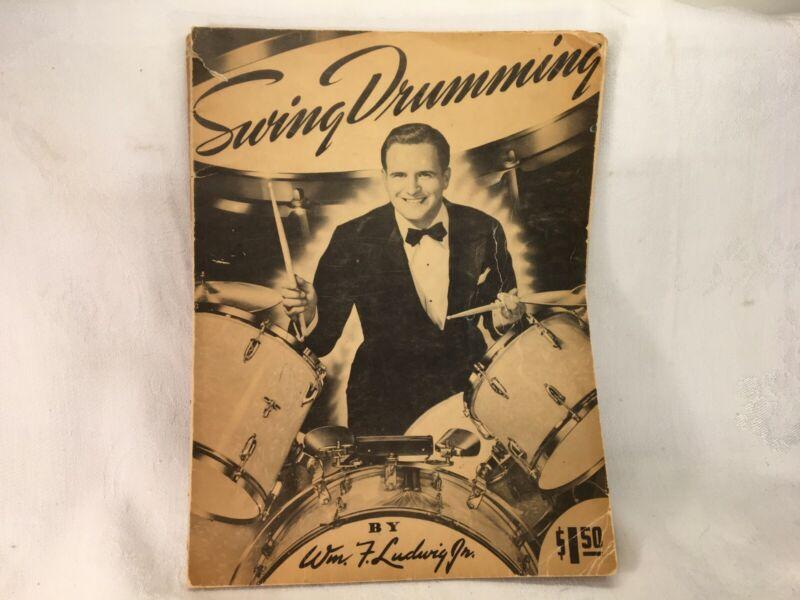 "Vintage 1942 ""Swing Drumming"" by Wm. F. Ludwig Jr. Original Instruction Book"