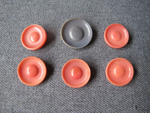 6 Vintage sombrero hat shaped tagua nut buttons