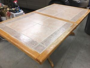 Tile & wood table