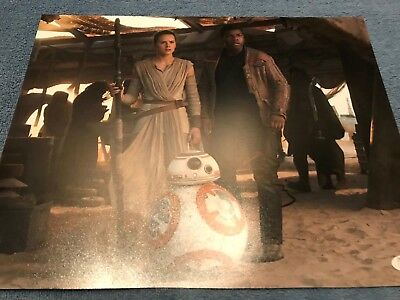 Star Wars Force Awakens Daisy Ridley Autographed Signed 11X14 Photo Jsa Coa  3