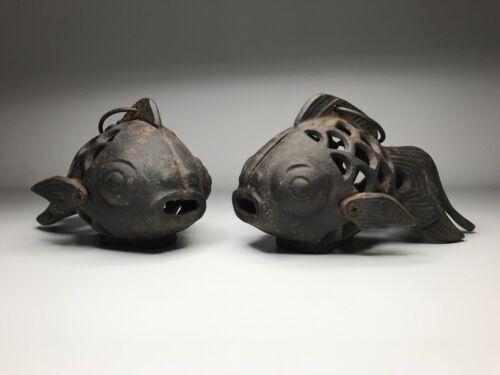 Cast Iron Lanterns - Small Fish Lanterns - Removable Candle Plugs