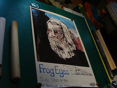 Original Vintage Poster: FROG EYES, Tears of the Valedictorian SIGNED by Carey