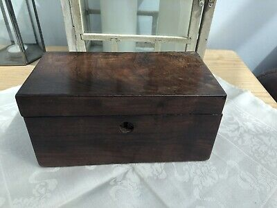 Vintage 19th Century Mahogany Work / Sewing Box with Lock - Needs Restoration#19