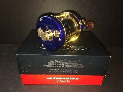 Abu Garcia Ambassadeur 6500 CDL Reel Blue Gold NOS NEW MINT w/ Box 5500 5000