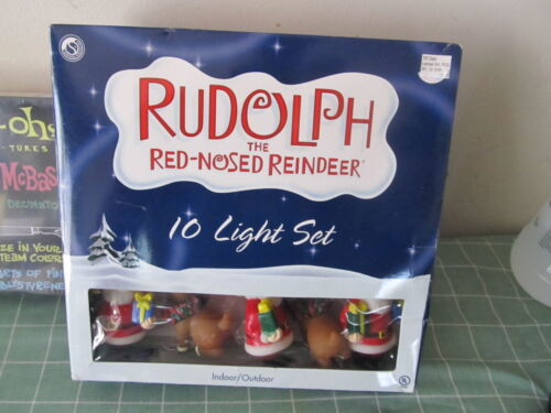 Rudolph the Red Nosed Reindeer 10 light set NEW IN BOX
