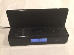 iHome iPod iPhone 4 Speaker Charging Digital Black Alarm Clock IH27B