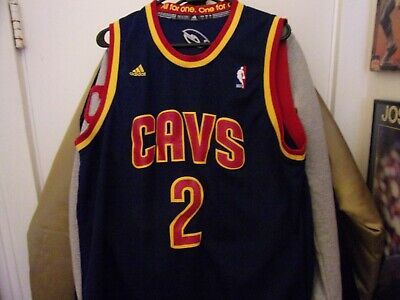 Cleveland Cavaliers #2 Kyrie Irving Basketball Jersey Size Man L All Sewn By (Cleveland Cavaliers Away Jersey)
