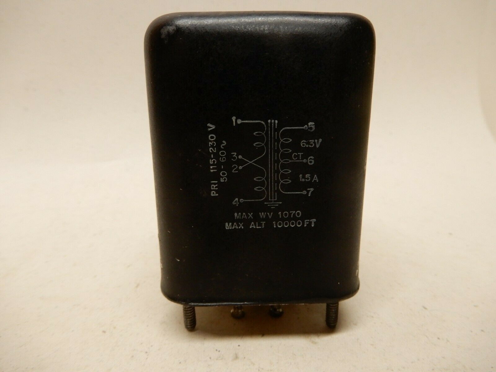 Stancor FH-615 6.3 Volt Filament Transformer 1.5 Amps Used