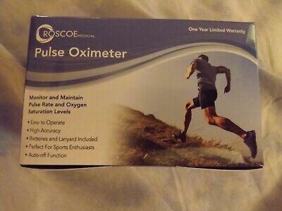 Roscoe Medical Fingertip Pulse Oximeter Brand New In Box