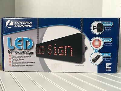 Lithonia Lighting Led Scrolling Signs Sgnscr M4