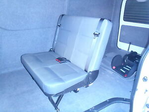 Combo Tourer  Double rear van seat with inbuilt seat belts VSB5 approved