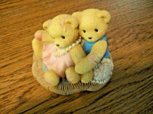 """1998 Cherished Teddies Ruth and Gene """"Not Eye to Eye but Heart to Heart"""""""