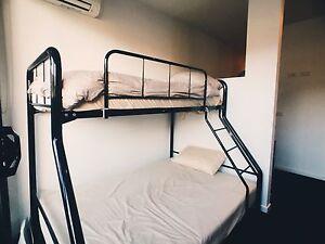METAL BUNK BEDS. FRAME + SINGLE MATTRESS Melbourne CBD Melbourne City Preview