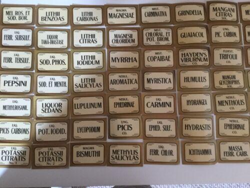 Vintage Pharmacy Item Antique Stock Bottle Labels 20 Titles
