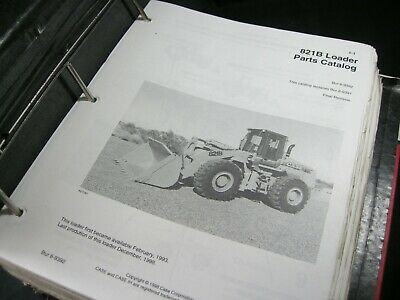 Case 821b Wheel Loader Tractor Parts Manual Catalog Book List In Original Binder