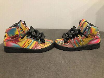 Adidas Jeremy Scott Rainbow Hologram Bones Tribute, G16054, Size 10, (Jeremy Scott Rainbow)