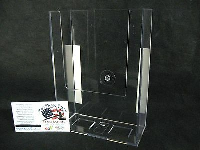 5 X 7 116 Crystal Clear Acrylic Wall-mount Brochure Holder For Office Stores
