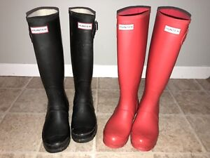 Hunter boots size 6 and 7