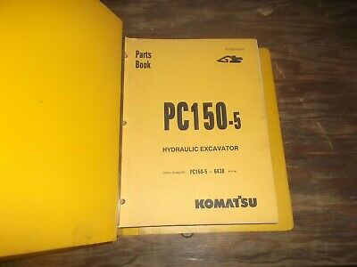 Komatsu Pc150-5 Hydraulic Crawler Excavator Parts Catalog Manual Book