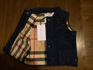 Baby Boys Burberry Bodywarmer Gilet 6 - 9 months Designer Babies Jacket NEW