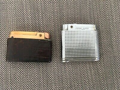 2 VINTAGE SILVER MATCH LIGHTERS