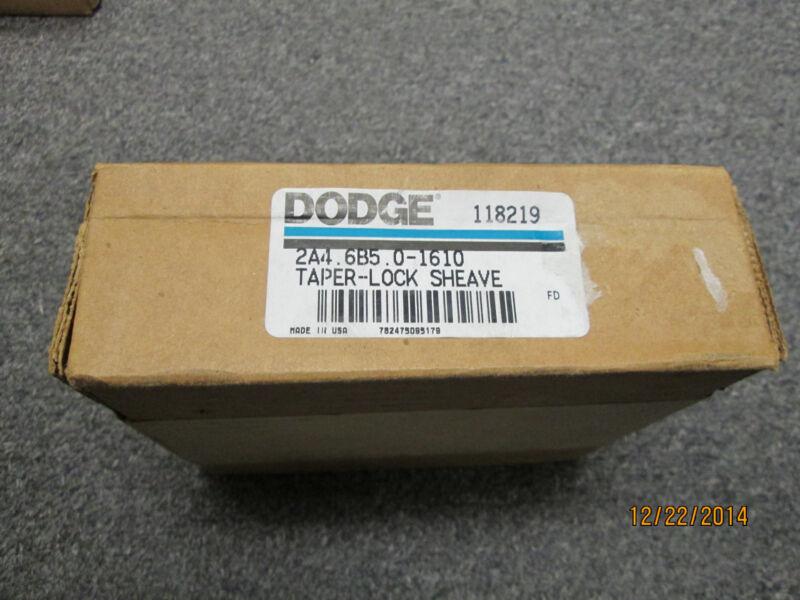 NEW DODGE 118219 2A4.6B5.0-1610 TAPERLOCK SHEAVE, 2 GROOVE.