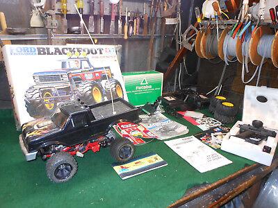 Vintage Tamiya Ford 150 Blackfoot 1:10 RC Package Lot w'Orig. Box Fatuba wheels