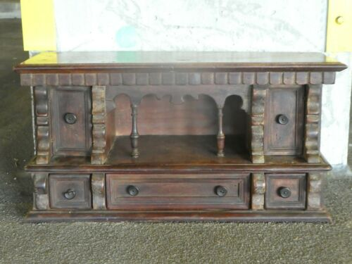 ANTIQUE 17TH C ITALIAN TUSCAN BAROQUE DESK OR LETTER CADDY W DRAWERS AND DOORS