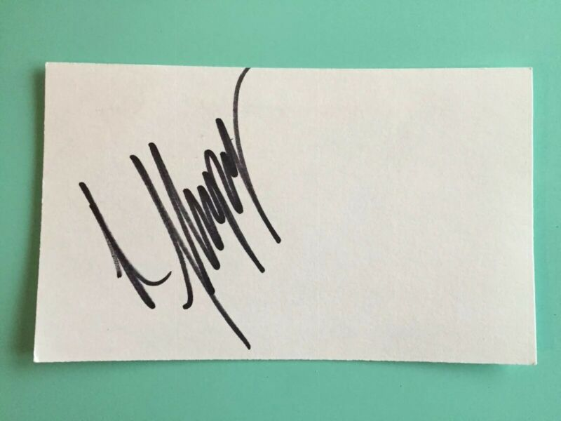 "Renee Zellweger Signed Index Card 3""X5 Star Of Bridget Jones Diary Jerry Maguire"