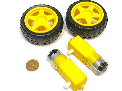 2 Wheels 2 Gear Motors Yellow 3v 6v Diy Smart Car Robot 65mm C13 B11
