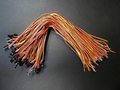 20 Stück Servokabel 30cm 300mm Servo Kabel Stecker JR Graupner Goldkontakt 26AWG