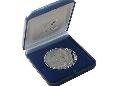 Medaille 1986 Grete Schickedanz für Treue Mitarbeit Jubiläumsmedaille 30g Silber