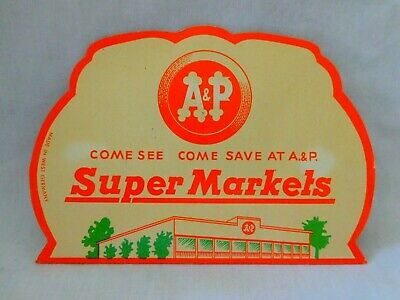 Vintage A&P Super Markets Advertising Needle Book With Original Separator