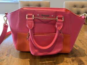 Orange and pink mixed color bag