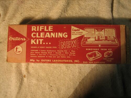 Vintage  outers 22 CAL rifle CLEANING KIT   w/ original cardboard box looks new